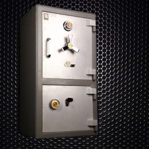 گاوصندوق گاو صندوق کاوه 750DKR دو طبقه کلید و رمز تایوانی